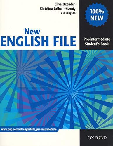 9780194384339: New English File. Student's Book: Pre-Intermediate (New English File Pre-intermediate)