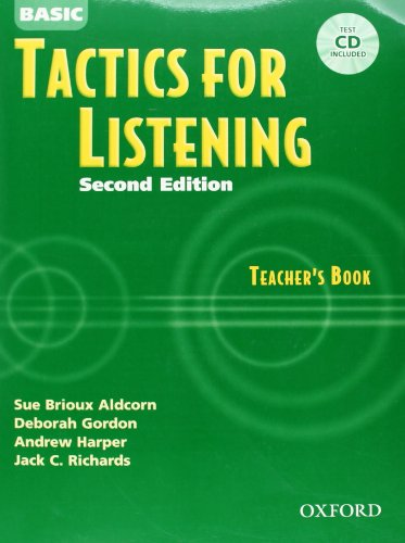 9780194384537: Tactics for Listening Basic: Teacher's Book and CD Pack 2nd Edition: Basic Tactics for Listening