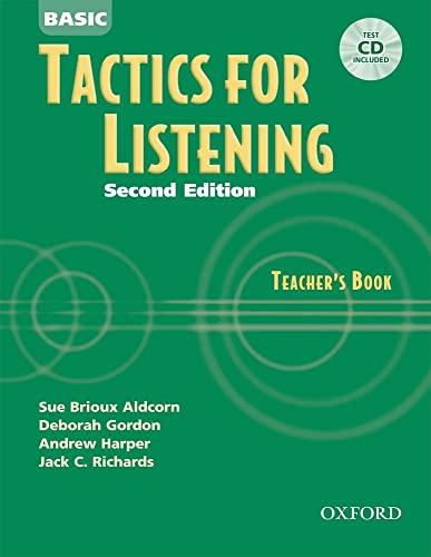 9780194384537: Basic Tactics for Listening: Teacher's Book with Audio CD