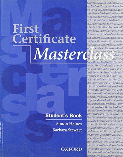 9780194386258: First Certificate Masterclass: Student's Book