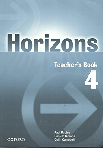 9780194387156: Horizons 4: Teacher's Book