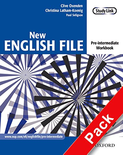 9780194387675: New English File pre-intermediate workbook with answers and multiROM pack