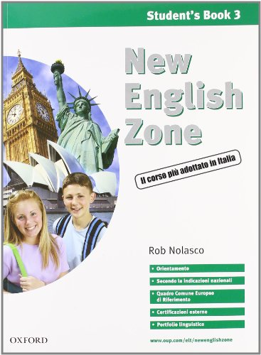 9780194387880: New english zone. Student's multimedia pack. Student's book-Workbook. Per la Scuola media. Con CD Audio. Con CD-ROM: 3