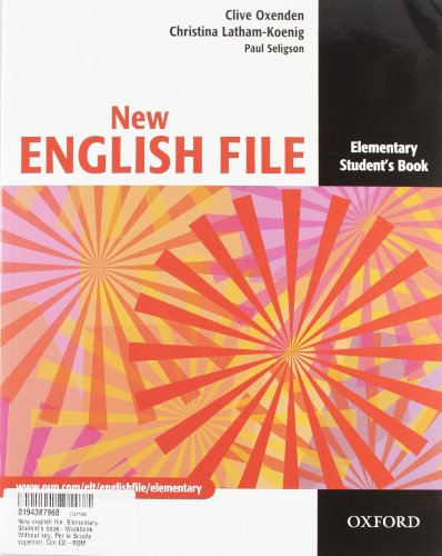 9780194387965: New english file. Elementary. Student's book-Workbook. Without key. Per le Scuole superiori. Con CD-ROM