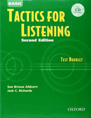 9780194388306: Basic Tactics for Listening: Test Booklet with Audio CD
