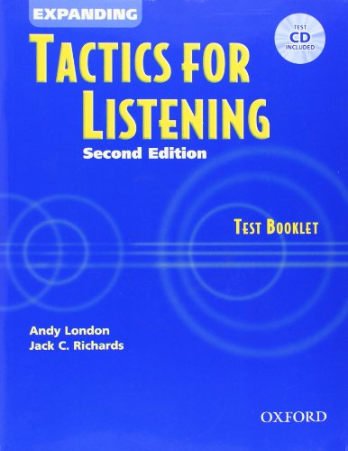 9780194388368: Expanding Tactics for Listening: Test Booklet with Audio CD
