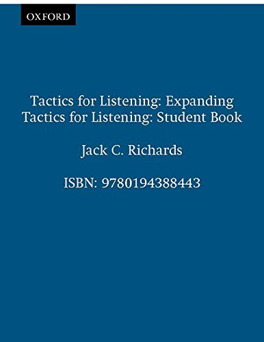 9780194388443: Tactics for Listening: Expanding Tactics for Listening: Student Book