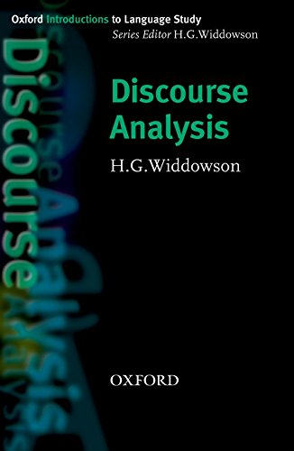 Discourse Analysis: Widdowson H G