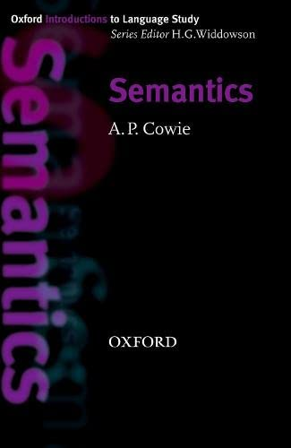 9780194389235: Oxford Introduction to Language Study: Semantics