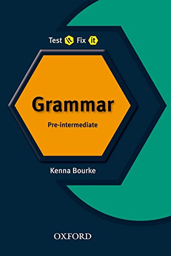 9780194392204: Test It Fix It. English Grammar Pre-Intermediate Revis: English Verbs and Tenses: Pre-intermediate lev