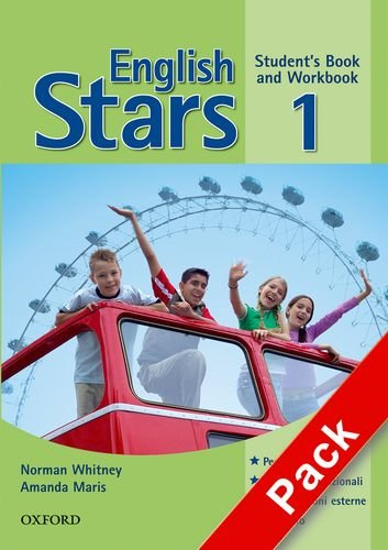 9780194393591: English stars. Level 1. Student's pack: Student's book-Workbook-Starter book-Extra book-Portfolio. Per la Scuola media. Con Multi-ROM