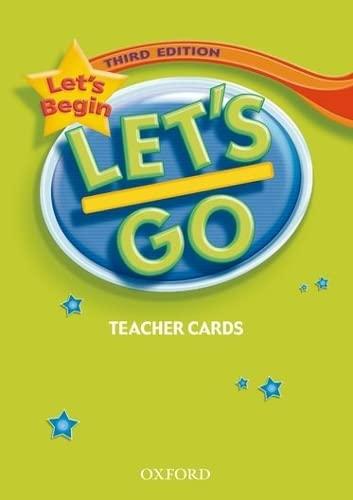 9780194394932: Let's Begin: Let's Go Beginner. Teacher's Cards 3rd Edition