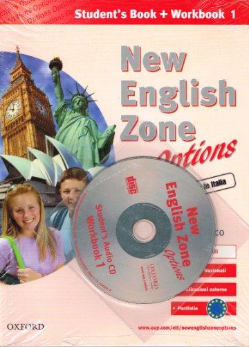 9780194395939: New english zone options. Pack. Student's book-Workbook-Portfolio-Extra book. Con CD Audio. Per la Scuola media: 1