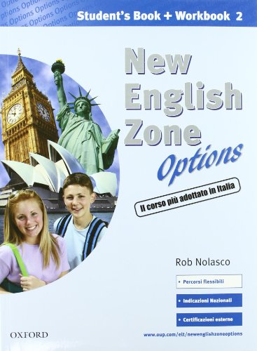 9780194395946: New english zone options. Pack. Student's book-Workbook-Extra book. Con CD Audio. Per la Scuola media: 2