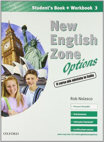 9780194395953: New english zone options. Pack. Student's book-Workbook-Extra book. Con CD Audio. Per la Scuola media: 3