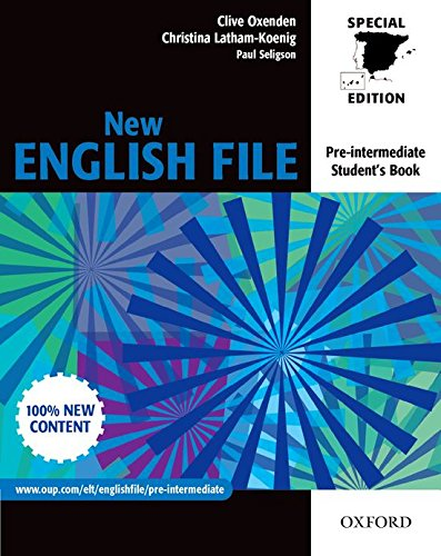 9780194396103: New English FILE Pre-Intermediate. Student's Book for Spain (New English File Second Edition)