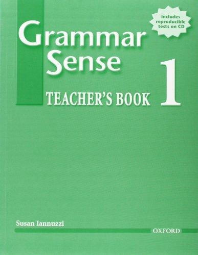 9780194397025: Grammar Sense 1 Teacher's Book with Tests CD