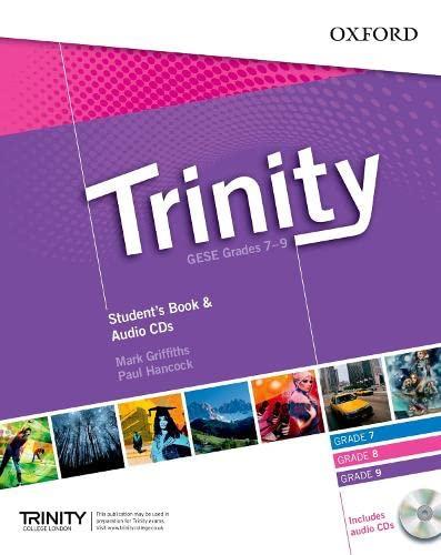 9780194397254: Trinity Graded Exams: Student's Book Grades 7-9 CD Pack