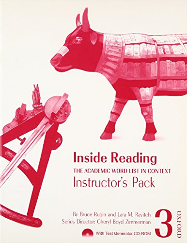9780194416221: Inside Reading 3 Instructor Pack: The Academic Word List in Context