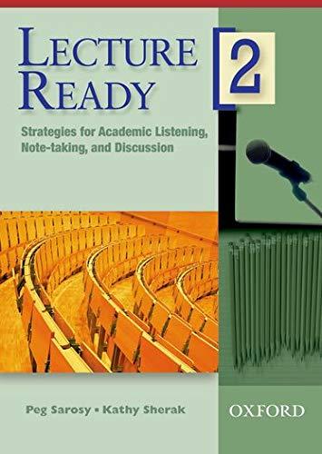 Lecture Ready 2: DVD: Katharine Sherak, Peg Sarosy