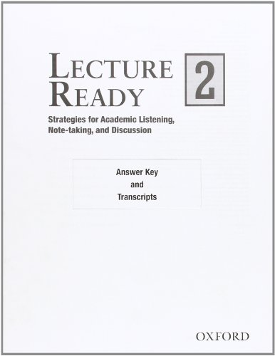 9780194417150: Lecture Ready! 2: Answer Key/Script