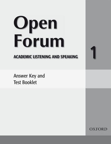 9780194417792: Open Forum 1: Answer Key and Test Booklet