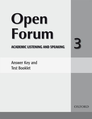 9780194417808: Open Forum 3: Answer Key and Test Booklet
