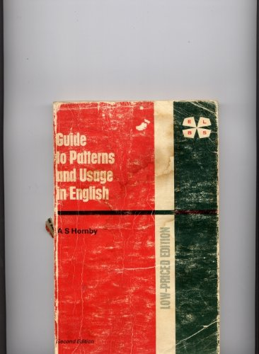 9780194421188: Guide to Patterns and Usage in English, A
