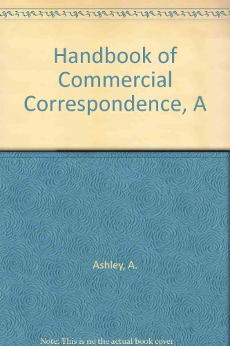 9780194421270: Handbook of Commercial Correspondence, A