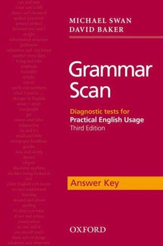 9780194422734: Grammar Scan Answer Key