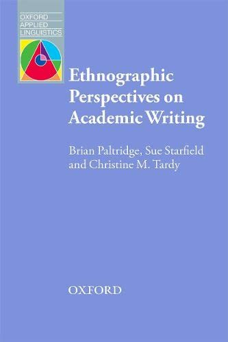 9780194423878: Ethnographic Perspective on Academic Writing (Oxford Applied Linguistics)