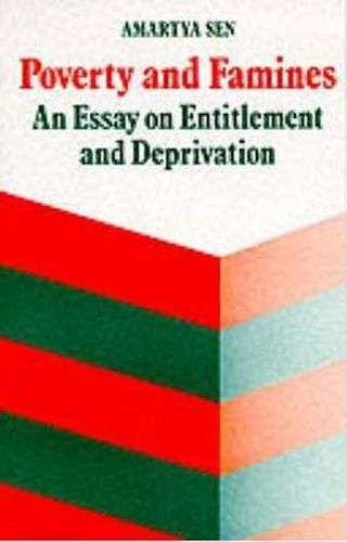 9780194424240: Poverty and Famines : An Essay on Entitlement and Deprivation