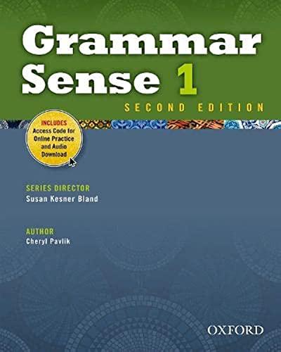9780194489102: Grammar Sense 1 Student Book with Online Practice Access Code Card