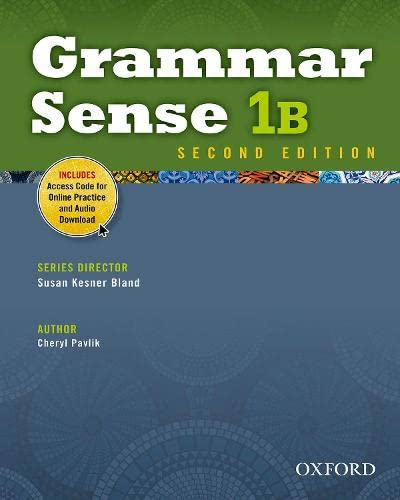 9780194489126: Grammar Sense 1B Student Book with Online Practice Access Code Card
