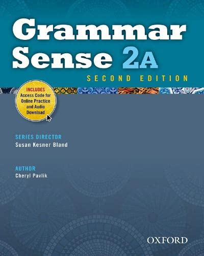 9780194489140: Grammar Sense 2A Student Book with Online Practice Access Code Card