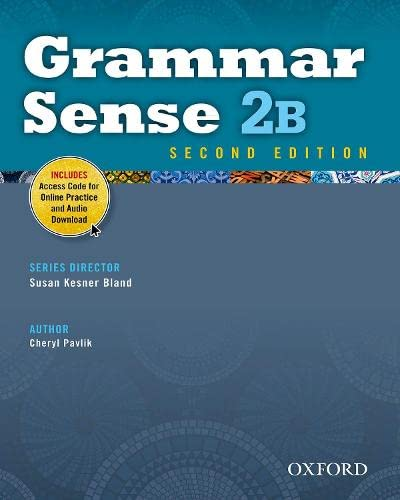 9780194489157: Grammar Sense 2B Student Book with Online Practice Access Code Card