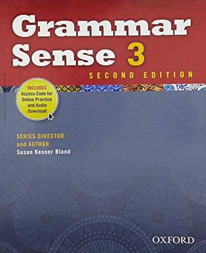 9780194489164: Grammar Sense 3 Student Book with Online Practice Access Code Card