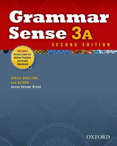 9780194489171: Grammar Sense 3A Student Book with Online Practice Access Code Card