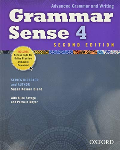 9780194489195: Grammar Sense 4 Student Book with Online Practice Access Code Card (Advanced Grammar and Writing)