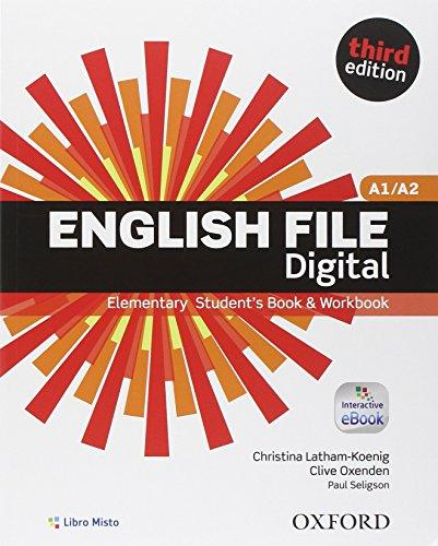 9780194501477: English file digital. Elementary. Vc-Student's book-Workbook. With key. Con e-book. Con espansione online. Per le Scuole superiori