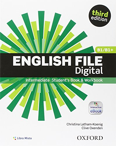 9780194501491: English file digital. Intermediate. Entry book-Student's book-Workbook. With key. Con e-book. Con espansione online. Per le Scuole superiori