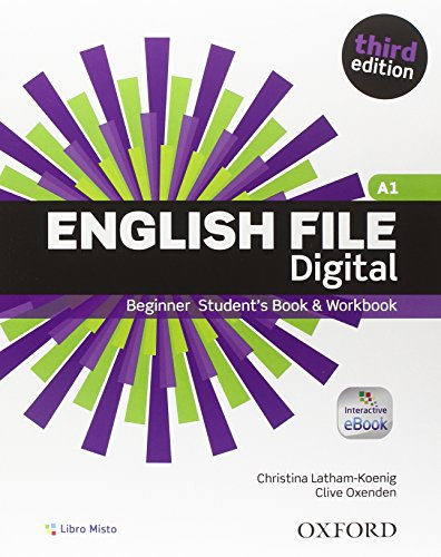 9780194501620: English File Third Digital Beginning. Con Student's Book & Workbook. Italian Companion. eBook. Chiave