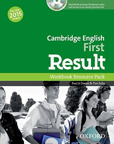 9780194511858: Cambridge English: First Result: First result. Workbook. Without key. Con espansione online. Per le Scuole superiori. Con CD-ROM
