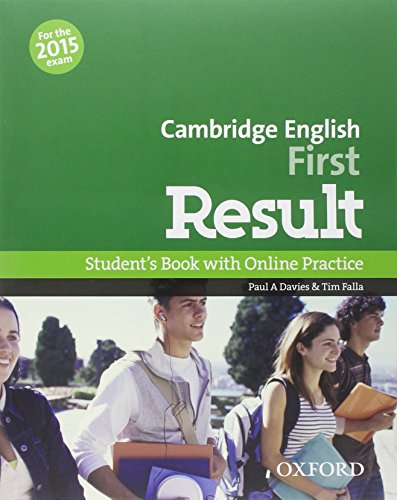 9780194511988: First result. Student's book-Workbook-2 test online. Without key. Con espansione online. Per le Scuole superiori. Con CD-ROM