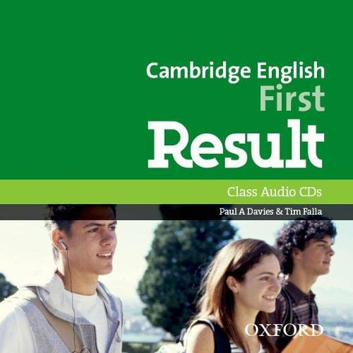 9780194512008: Cambridge English: First Result: First Certificate in English Result Class Audio CD Edition 2015 (2)