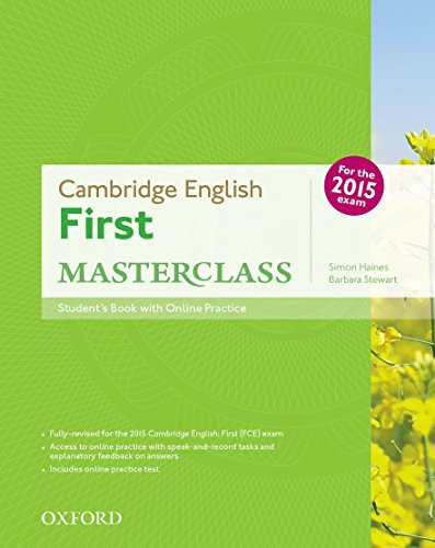 9780194512688: First masterclass. Student's book-Skills practice online-Test online. Per le Scuole superiori. Con espansione online: Cambridge English First ... Online Practice Test Exam Pack 2015 Edition