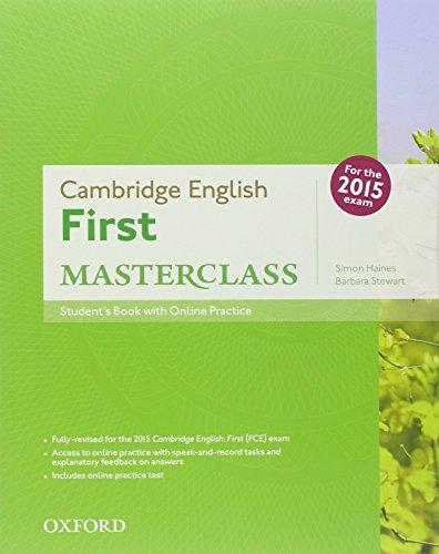 9780194512756: First masterclass. Student's book-Workbook-2 test online. With key. Con espansione online. Per le Scuole superiori. Con CD-ROM