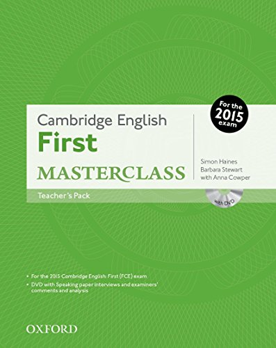 9780194512770: Cambridge English: First Masterclass: First 2015 Masterclass. Con Teacher's Book. Con DVD