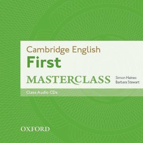 9780194512817: Cambridge English: First Masterclass: Class Audio CDs