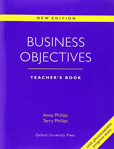9780194513937: Business Objectives New Edition: Business Objectives. Teacher's Book New Edition